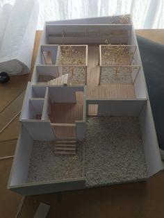 Maquette Architecture, Public Architecture, Architecture Concept Drawings, Architecture Sketchbook, Wood Architecture, Architecture Portfolio, Model House Plan, Architectural Sculpture, Tiny House Design