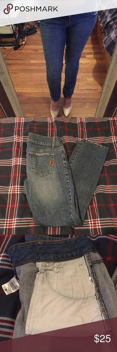 G by Guess Sarah Skinny Jeans sale was $25 now $20 Length of jeans was shortened by tailor to fit me, I am 5'2 was $25 now $20 G by Guess Jeans Skinny