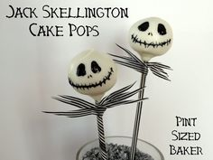 Jack skellington cake pops #party #Halloween