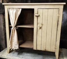 Primitive Kitchen Cabinets, Farmhouse Storage Cabinets, Kitchen Cabinet Colors, Kitchen Cupboards, Rustic Cabinet Doors, Rustic Cabinets, Diy Cabinets, Rustic Doors, Colonial Furniture