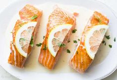 Salmon with Lemon Cream Sauce (Simply Recipes) What Is A Pescatarian, Pescatarian Diet, Lemon Cream Sauces, Cream Sauce Recipes, Lemon Sauce, Pesco Vegetarian, Lemon Salmon, Thing 1, Healthy Snack Foods