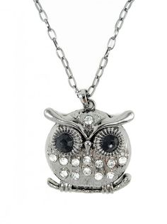 Charcoal Owl Necklace - $10.00 : FashionCupcake, Designer Clothing, Accessories, and Gifts
