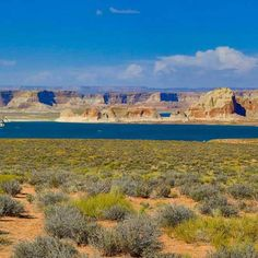 Traveling near antelope canyon you will see the beautiful lake Powell waterway. Deep blue waters and southwest geology.  A favorite place to start a house boat trip.