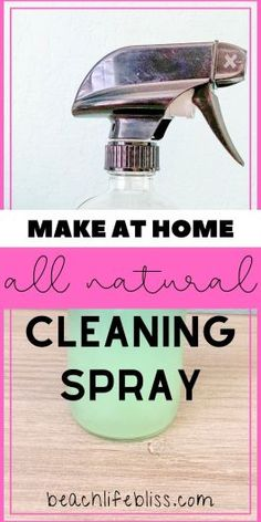 DIY Vinegar Cleaning Spray - SAVE $$ and Stop Buying Cleaners Now! Diy Home Cleaning, Cleaning Spray, Cleaning Recipes, Diy Cleaning Products, Cleaning Hacks, Cleaning Checklist, Homemade Detergent, Essential Oils Cleaning, Glass Spray Bottle