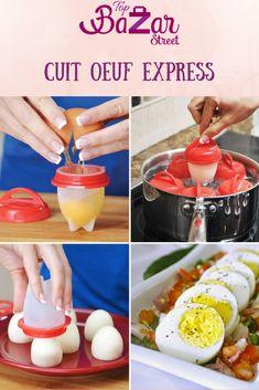 Pack de 6 cuits oeuf pour manger des oeufs le matin sans surveiller la cuisson, sans éplucher la coquille. Possibilité d'utiliser le lave-vaisselle. 100% SANS BISPHÉNOL A. *Idée recette pour une omelette revisitée: Battez votre oeuf, Ajoutez 2-3 feuilles de persil plat, des dés d'emmental, de la tomate séchée, 1 pincée de paprika, salez, et poivrez. Versez la préparation. ATTENTION : Bien huiler l'intérieur. Ne pas utiliser de micro ondes. LIVRAISON OFFERTE