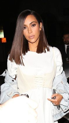Kim Kardashian lob