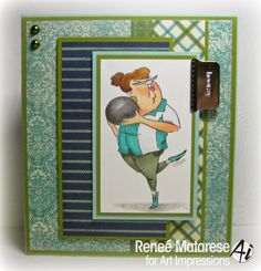 Bowling Barbara set made by Art Impressions Rubber Stamps, It can be purchased at Pat's Rubber Stamps & Scrapbooks in my ebay Store or 1327 Glenmar Ave. Mt Carmel, TN 37645 Pat's Rubber Stamps & Scrapbook supplies 423-357-4334. We take PayPal