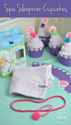 Spa Sleepover Turbie Twist Cupcakes | Tween Crafts - Connecting Mom and Daughter through crafting