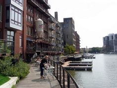 Milwaukee River Walk - Milwaukee, Wisconsin, USA - Best place to be in the summer!