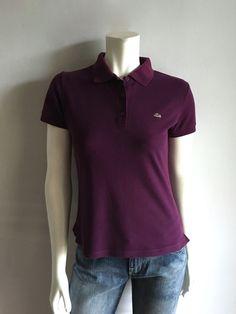 Vintage Women's 80's Lacoate Polo, Purple, Short Sleeve, Top (M) by Freshandswanky on Etsy