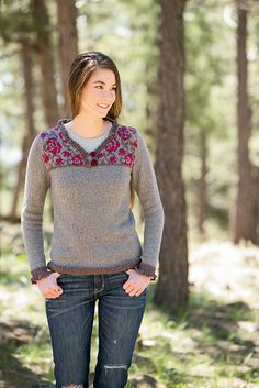 Ravelry: Climbing Rose Henley pattern by Cassie Castillo