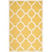 Cambridge Gold / Ivory Rug - wool...but soft enough?