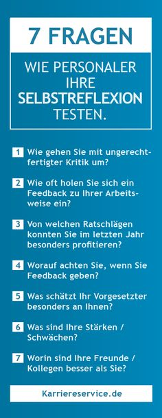 Typische Fragen im Vorstellungsgespräch 7 typical questions people like to use to test candidates' self-reflection in the interview. Job Info, Life Guide, My Job, Job Search, Better Life, Motivation Inspiration, Good To Know, Work Hard, Leadership