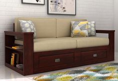 Wendel 3 Seater Sofa With Storage in Mahogany Finish is like an ideal choice as it provides comfortable seating, has great impact on the interiors and last but not the least sufficient storage options. Buy #3SeaterSofa online from Wooden Street in #Chandigarh #Mumbai #Jaipur