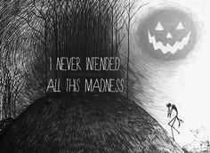 """""""I Never Intended All This Madness"""", Tim Burton's sketch, Pencil Line Drawing, pop art."""
