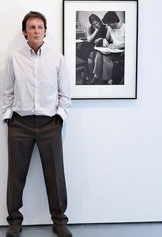 Paul McCartney, John Lennon...<3 - his shirt is just a little rumpled. Just out of place on him