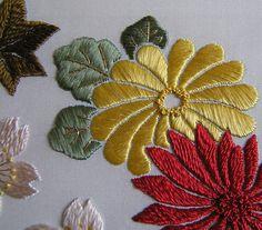 Satin stitch embroidery @Af's 17/4/13