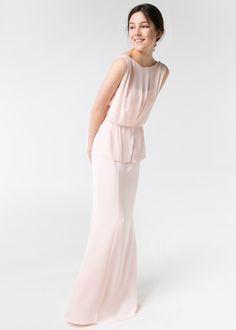 Vestido largo doble capa - mango