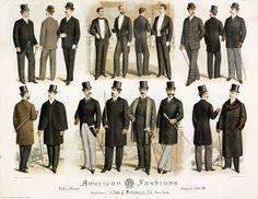 American men's fashion 1889-1890