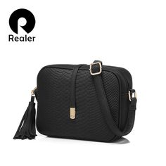 Cheap small shoulder bag, Buy Quality shoulder bags for women directly from China brand shoulder bag Suppliers: REALER brand small shoulder bag for women messenger bags ladies retro PU leather handbag purse with tassels female crossbody bag Designer Messenger Bags, Womens Messenger Bag, Small Messenger Bag, Small Shoulder Bag, Leather Shoulder Bag, Glands, Small Handbags, Women's Handbags, Black Tote Bag