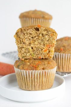 Zucchini Carrot Oatmeal Muffins by Yellow Bliss Road