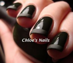 Matte black nail polish - must look out for this