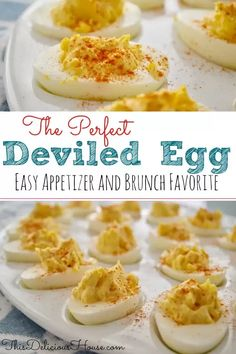 Easy Deviled Eggs are the BEST classic recipe that is easy and healthy! This budget-friendly appetizer or brunch item is delicious and so easy. #deviledeggs #easydeviledeggs Perfect Deviled Eggs, Brownie Frosting, Brunch Items, Cracked Egg, Classic Recipe, Great Appetizers, Few Ingredients, Egg Shells, Budget