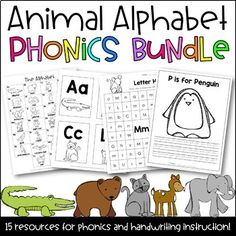 The Animal Alphabet Phonics BUNDLE is a set of various resources for the primary classroom. These products were designed and are used with direct and explicit phonics and handwriting instruction in kindergarten. Please click each product link to see individual details and product info.