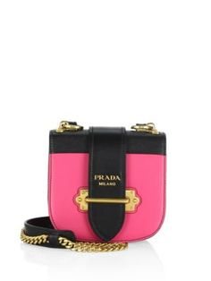 PRADA Pionnière Leather Saddle Bag. #prada #bags #shoulder bags #leather #lining #