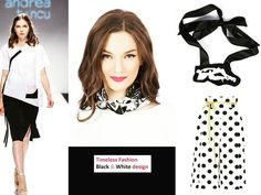 Timeless Fashion...Black & White mood www.andreatincu.com #andreatincu #lovefashion #newcollection #fashiondesigner #blackandwhite #lovetrends #minimalism #truepassion #necklace #silkscarf #polkadots #whiteshirt #supergirl