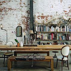 Living etc Dining room in Converted Warehouse Interior Architecture, Interior And Exterior, Interior Walls, Kitchen Interior, Modern Interior, Converted Warehouse, Warehouse Conversion, Sweet Home, Deco Design