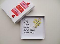 Geldgeschenk Hochzeit ♥ live, love, laugh