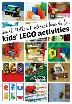 Must-follow Pinterest boards dedicated to LEGO activities for kids. Hundreds of LEGO activities to try with the kids, with more being pinned each day.