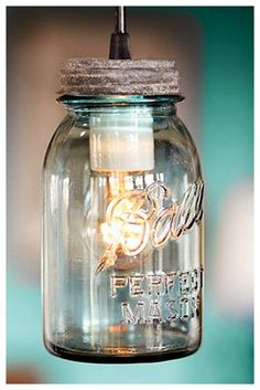 Convert a ordinary mason jar into a bright light with a lamp kit. Be sure to drill several small holes in the lid for heat to escape and use CFL bulbs.