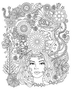 People Coloring Pages, Pattern Coloring Pages, Coloring Book Pages, Egypt Tattoo Design, Drawing Sketches, Drawings, Printed Pages, Zentangle Patterns, Drawing People