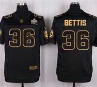 Nike Pittsburgh Steelers #36 Jerome Bettis Black Men's Stitched NFL Elite Pro Line Gold Collection Jersey
