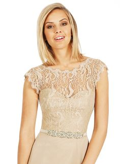 Sheath/Column Scoop Neck Sweep Train Chiffon Lace Zipper Up Cap Straps Sleeveless No Champagne Ivory Spring Summer Fall Champagne White Bridesmaid Dress