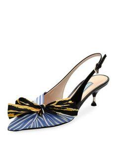 b2d6e7a8906f Salvatore Ferragamo Gilli Rainbow Stripe Block Heel Sandals ...