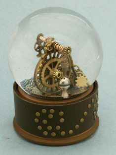 The Camryn Forest Designs Steampunk Snow Globes are Marvelous #steampunk #victorian trendhunter.com
