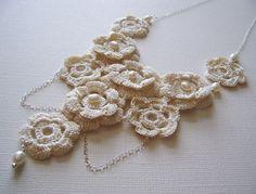 Irish rose lace necklace.....