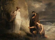 Telemachus Landing on the Isle of Calypso (from Homer's 'Odyssey') by Richard Westall Date painted: 1803 Oil on panel, 54....