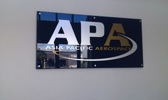 Acrylic reception sign using lasercut letters - smart professional finish