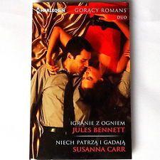 Polish Book - Harlequin Romance duo. Harlequin Romans Igranie z ogniem...