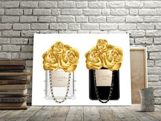 "Printable art ""PERFUME BOTTLE CHANEL Print,Prints and quote,Digital print,Coco Chanel print,Instant Download,Fashion Perfum Bottle,Gold Rose von sweetandhoneyprints auf Etsy"