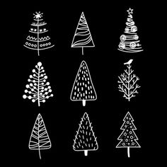 Christmas Tree doodles brushes for Procreate, iPad and Apple Pencil Christmas Doodles, Christmas Drawing, Christmas Art, Christmas Holidays, Christmas Decorations, Christmas Ornaments, Christmas Tree Zentangle, Christmas Tree Sketch, Bullet Journal Ideas Pages