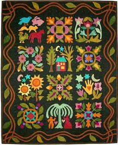 "wonderful folk art quilt ""From my heart to your hands"" - Quilt Designs by Lori Smith"