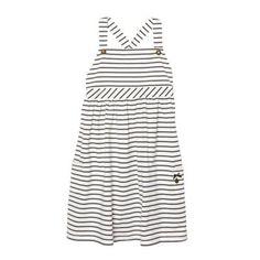 Designer girl's off white striped jersey sun dress at debenhams.com