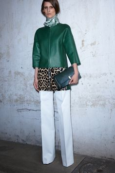 In love with colored leather - and leopard. Céline Resort '13. #fashion #resort