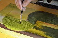 Spachteltechnik, Strukturpaste, Feinstrukturpaste, Effekte im Acrylbild, Effekte im Bild, Spachteleffekte, Relief malerei,einfache Acrylbilder, malen mit relief.