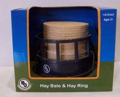 NIB Big Country Farm Toys Hay Bale and Hay Ring  #BigCountryFarmToys